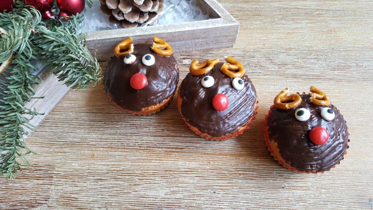 Weihnachtliche Rentier-Muffins backen