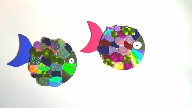 Upcycling: Glitzerfische aus CDs basteln