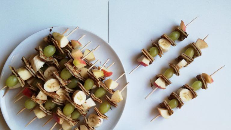 Crepes-Obst-Spieße für Kleine und Große