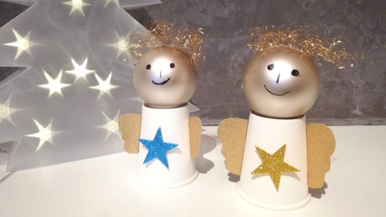 Süße Engel aus Pappbechern basteln
