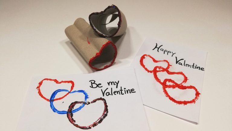 Gruß zum Valentinstag:  Herzchenkarte