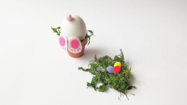 Osterhase aus Eiern – ein 5-Minuten-DIY