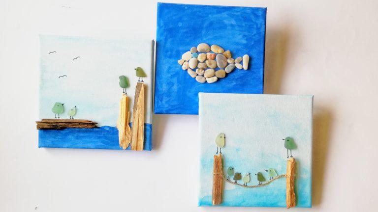 Steinbilder aus gesammelten Steinen gestalten
