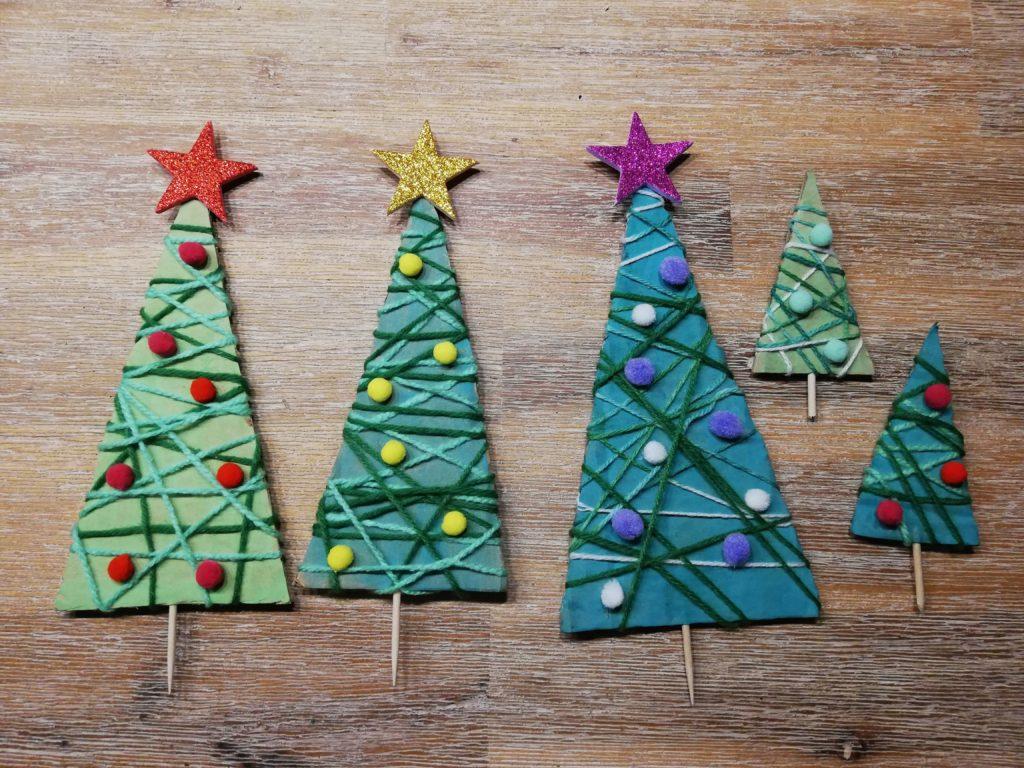 Weihnachtsbaum Aus Pappresten Basteln Dorfmamade