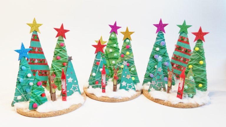 Weihnachtsbaum aus Pappresten basteln