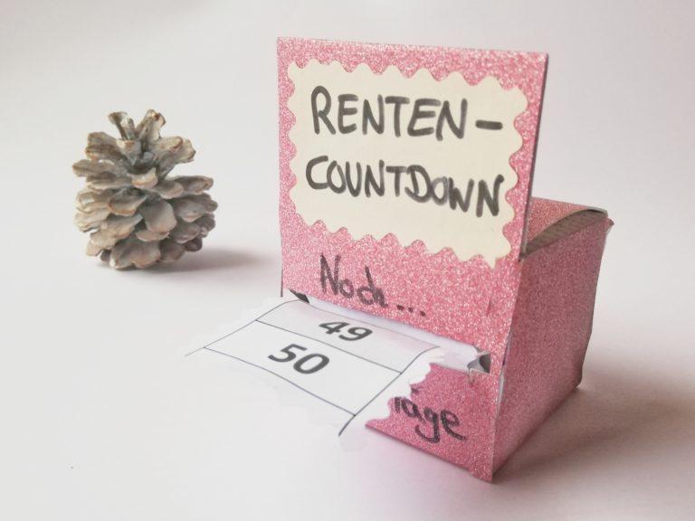 Countdown zur Rente und für den Ruhestand