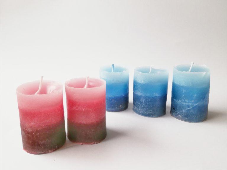 Tolle Kerzen aus Kerzenresten selber machen