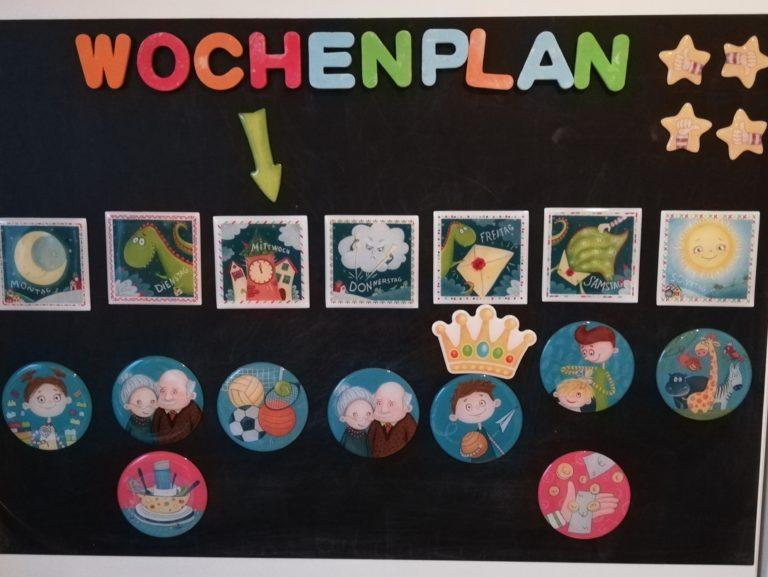 Magnetischer Familienplaner für Kinder