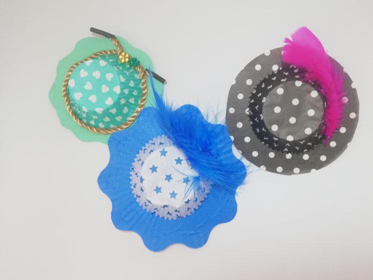 Karnevals-Hüte aus Muffinförmchen