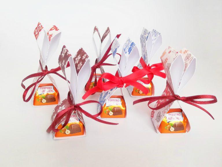 Süße Hasen als kleines Ostergeschenk