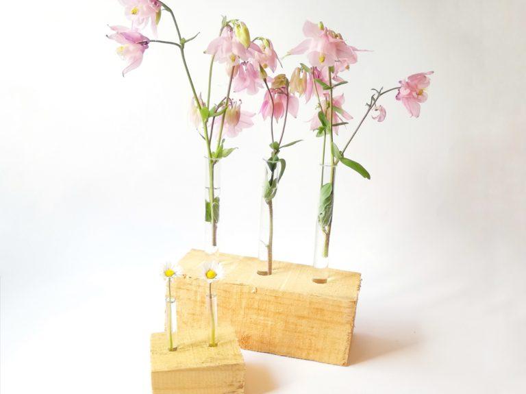 Blumenvase aus einem Holzblock – Ein Muttertag-DIY