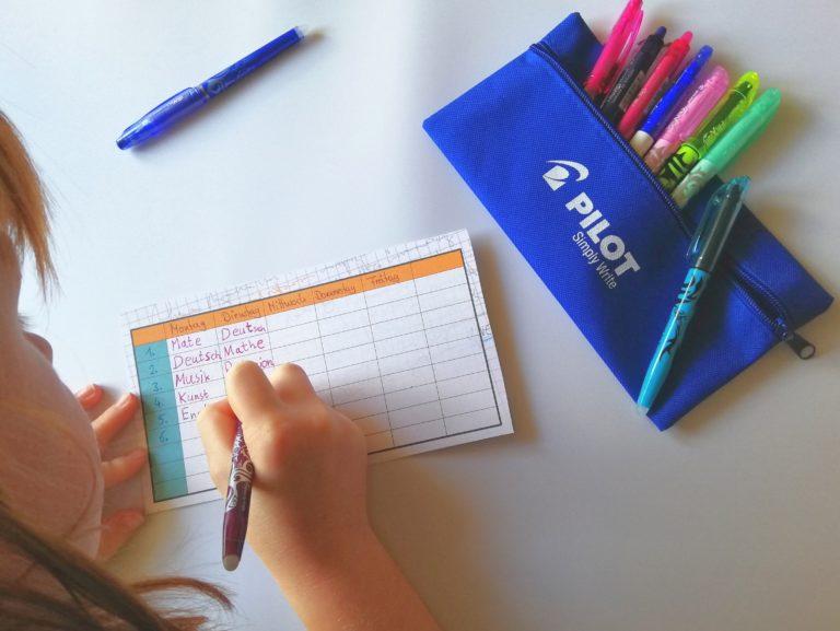Back2school mit den Stiften der FriXion-Family von PILOT