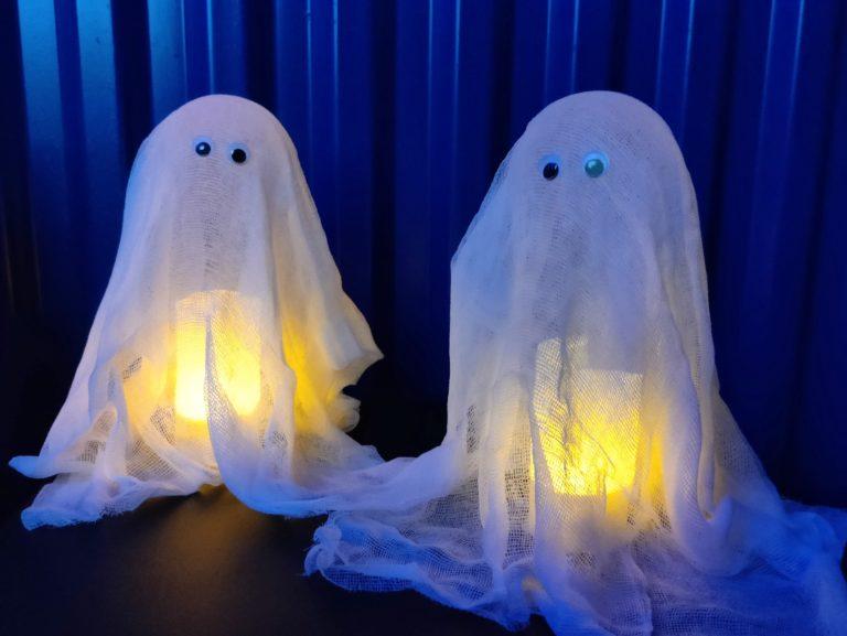 Gespenster für Halloween – schnell und einfach gebastelt